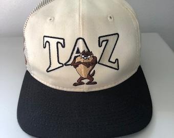11cc7c6a860e3 Vintage Taz Looney Tunes Snapback Hat