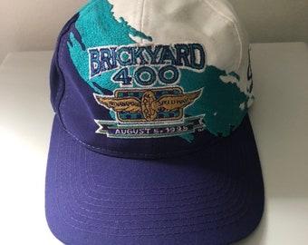 0437632342199 Rare Vintage 1995 Brickyard 400 Logo Athletic Splash Snapback