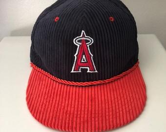 292f7b4082aff Vintage Los Angeles Anaheim Angels Corduroy Snapback Hat