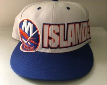 best service d324b 57ed8 Rare Vintage New York Islanders Sample Snapback Hat