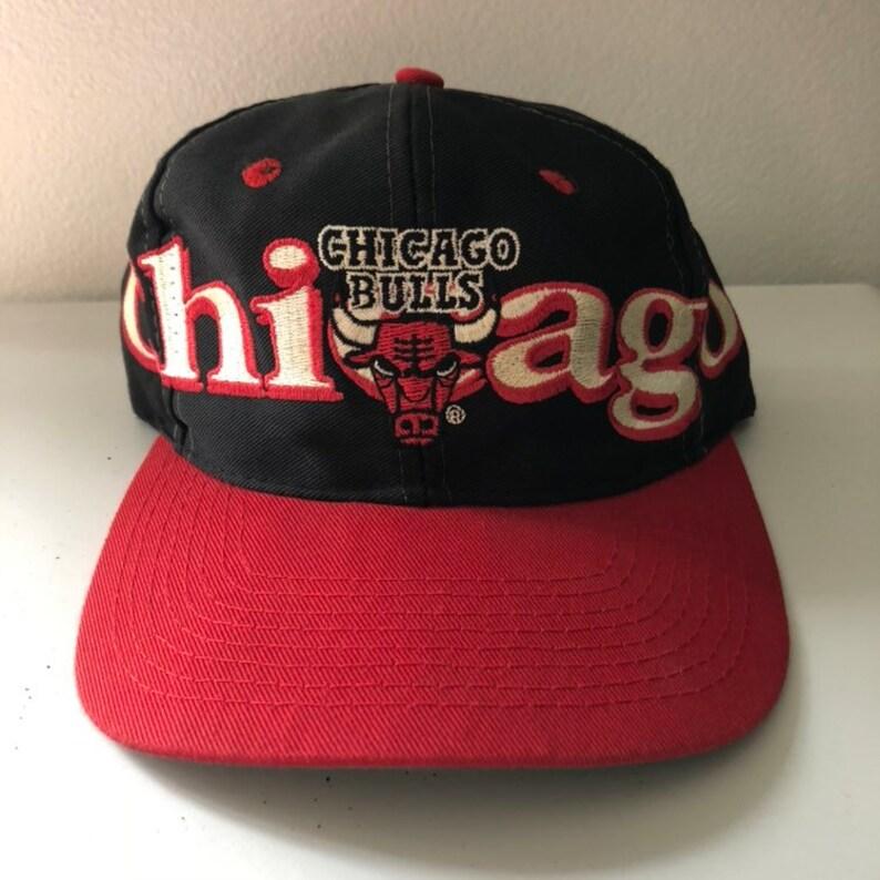 af679f79967f78 Vintage Chicago Bulls Logo 7 Snapback Hat | Etsy
