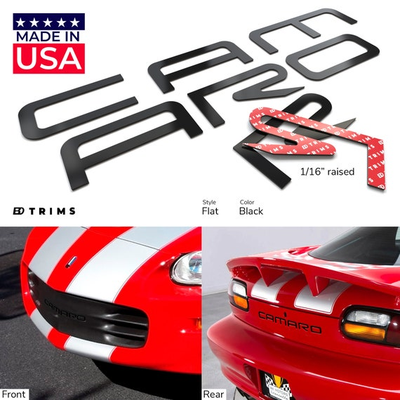 BDTrims Front and Rear Plastic Letters Inserts Set fits 1997-2004 Corvette C5 Models Red