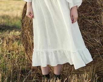 White Linen Petticoat, White Linen Skirt, Linen Underskirt, Victorian Style Skirt, Victorian Style Petticoat, Linen Petticoat, Linen Skirt