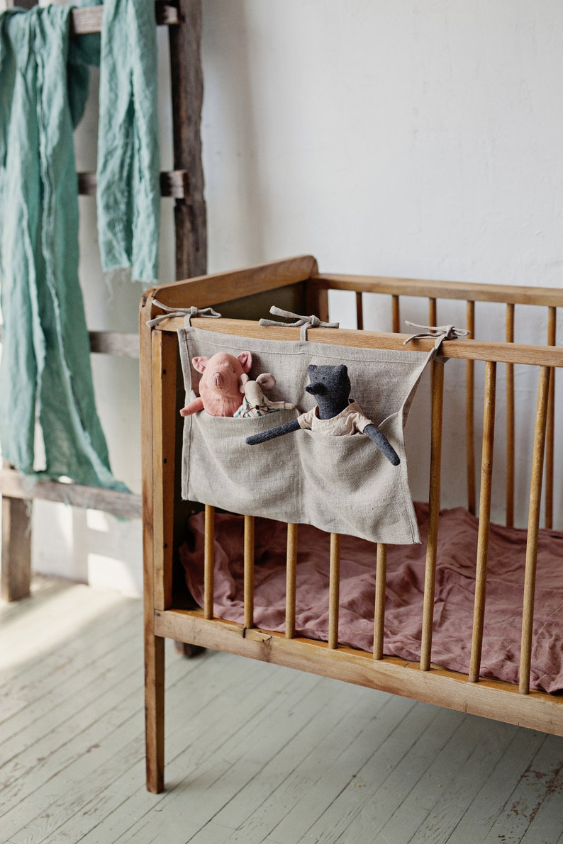 Ready to Ship Baby Crib Organizer Pocket Organizer image 0