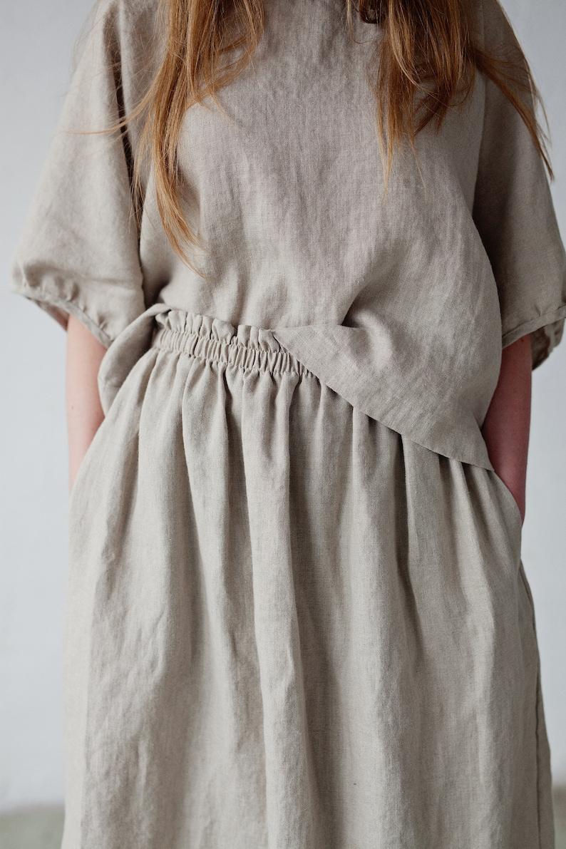 Natural Linen Skirt Midi Skirt Linen skirt Skirt with image 0