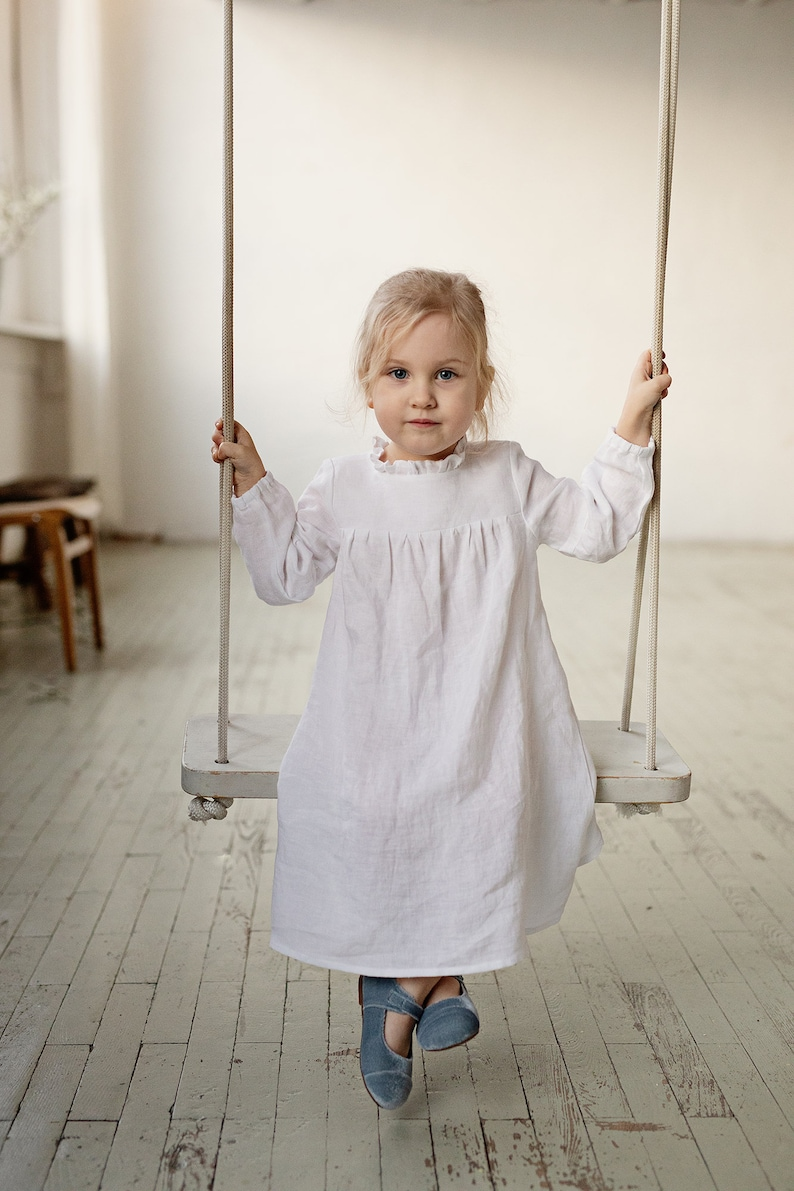 Victorian Kids Costumes & Shoes- Girls, Boys, Baby, Toddler Linen Dress Girls White Girl Dress Baby Linen Dress Baby Dress Flower Girl Dress Linen Clothes Girls Dress Girls Wedding Girl Dress $67.50 AT vintagedancer.com