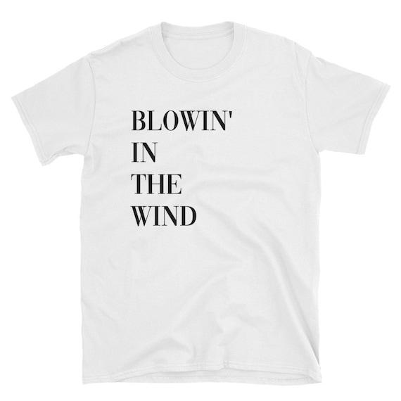 Blowin/' In The Wind Bob Dylan Men/'s Black T-Shirt