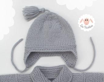 Matching Baby Bonnet /& Chaussons 0-3 mois blanc /& rose Girl/'s Machine Tricot Set