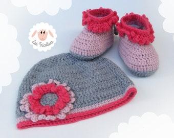 Bonnet Fleur Fille Crochet Laine Etsy