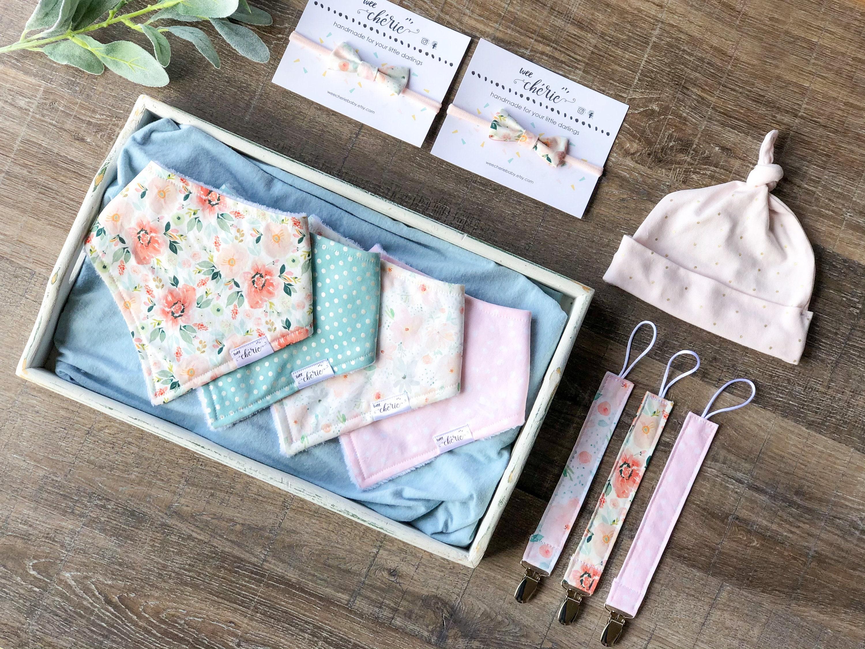 Baby Shower Gift Little Sister Bandana Bib Personalized Bib Newborn Drool Bib