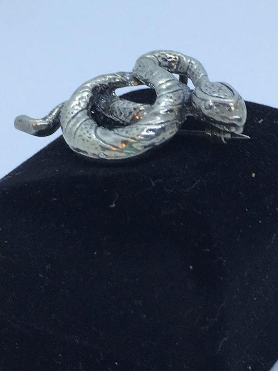 Vintage Stearling Snake Brooch or Pendant
