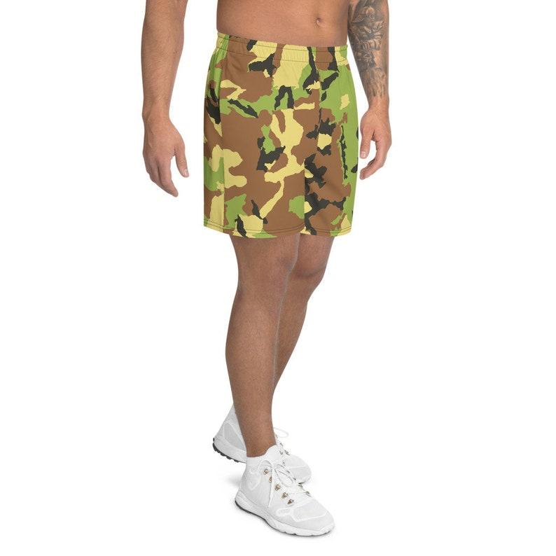 Camo Men/'s Athletic Long Shorts