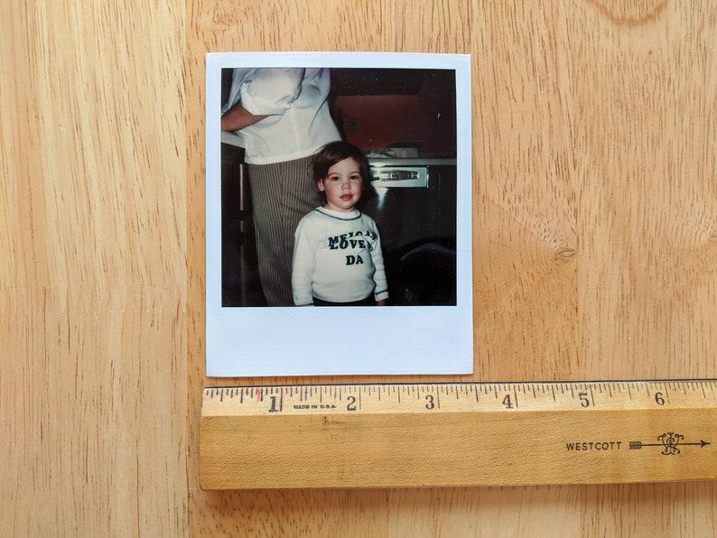Vernacular Photography Polaroid 1980s Boy in the Kitchen Original Found Photograph Color Photo Vintage Polaroid Color Photo