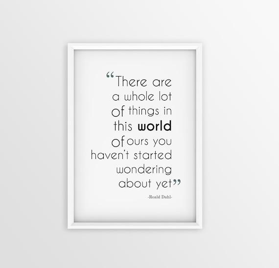 Roald Dahl Quotes Mesmerizing Roald Dahl Quote Famous Printable Quote Digital Print Etsy