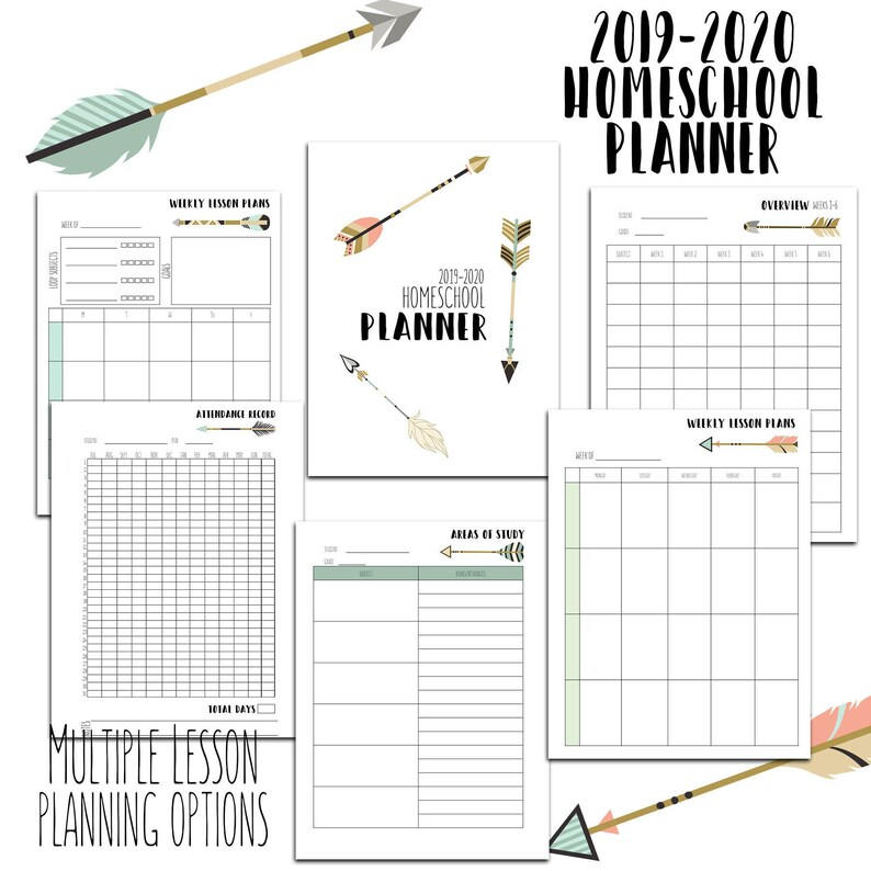 image relating to Printable Homeschool Planners known as 2019-2020 Homeschool Planner- Editable Homeschool Planner- Homeschool Creating Printables