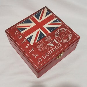 /'Union Jack Flag/' Wooden Letter Rack Holder LH00015484