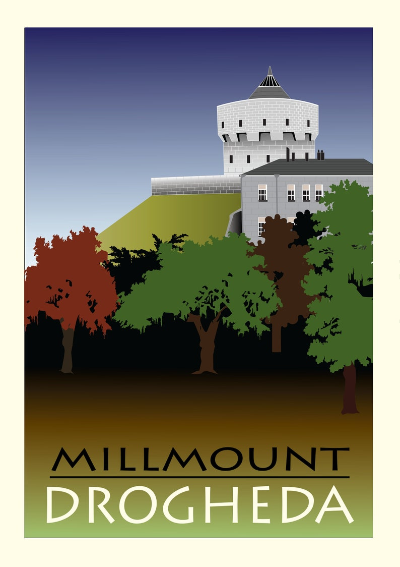 Fine Art Print of Millmount A5 Postcard Home gifts image 1