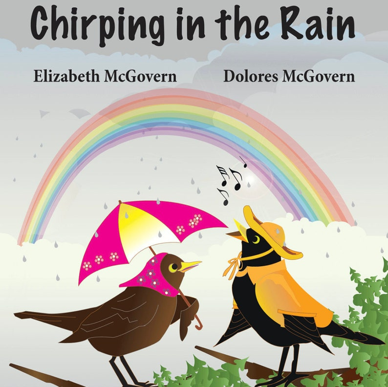 Chirping in the Rain Children's Book Age 3-7 Colourful image 1