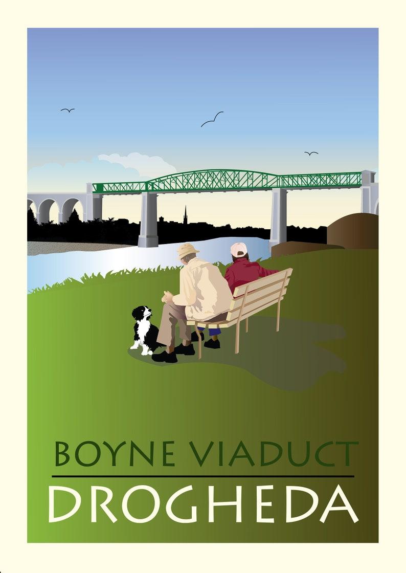 The Viaduct  Drogheda Print A5 Postcard image 1