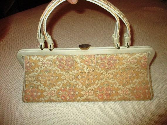 Large Vintage Upholstered Carpet Bag