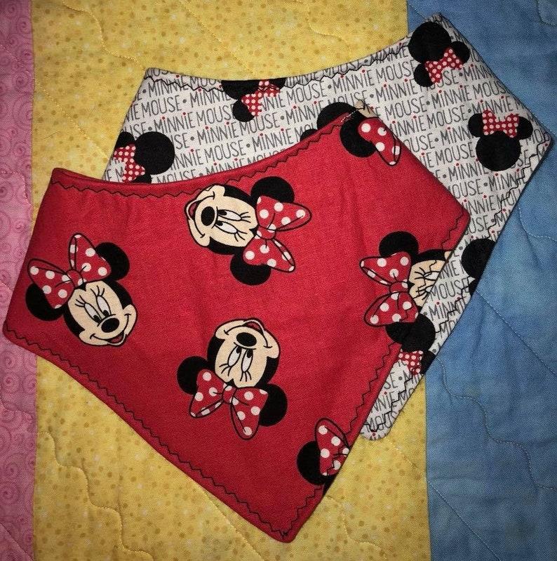 0edfcaa26ff Minnie Mouse Bandana bib Bandana bib toddler bib baby