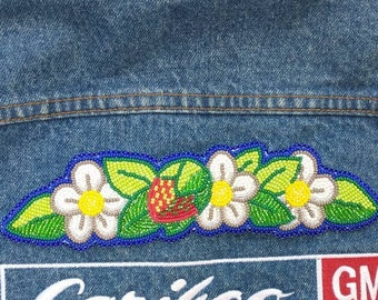 Strawberry Blossoms and Leaves Patch