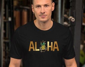 94d3884e Aloha Pineapple t-shirt tropic islands for surfers, aloha bride, groom,  Honolulu, wedding Hawaii Aloha friday, Hula, Tiki, Luau Party