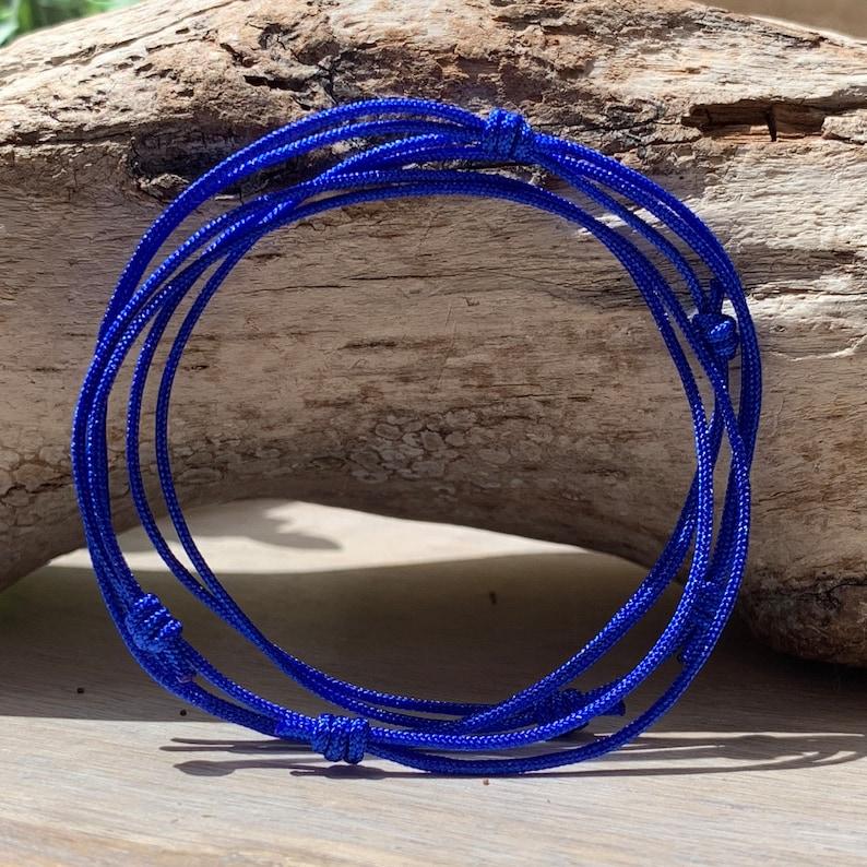 a7474a0df586e Mens Blue Cord Bracelet, Mens Adjustable Bracelet, Waterproof Bracelet, BFF  Gift, Something Blue