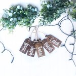 Stocking Name Tags, Christmas Ornaments, Wooden Tags