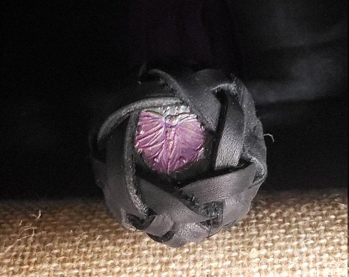 Royal Purple Leather Flogger