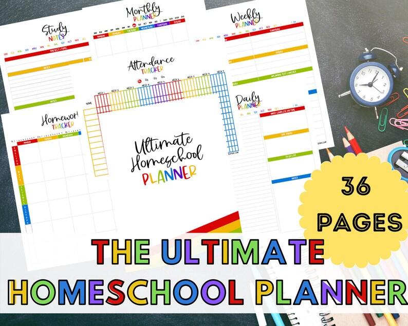 Ultimate Homeschool Planner Homeschool Printable Homeschool image 0
