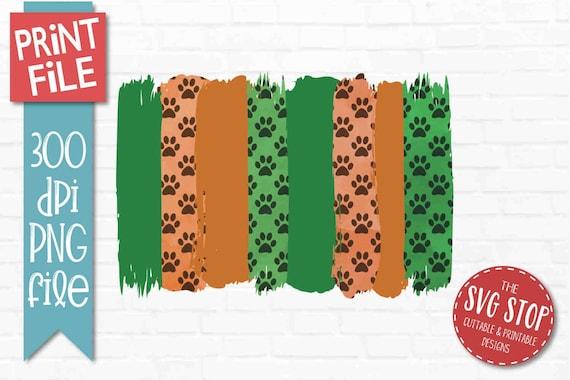 Green Orange Paint Brush Stroke Background Paw Print Png Etsy 170 free images of paw print. etsy
