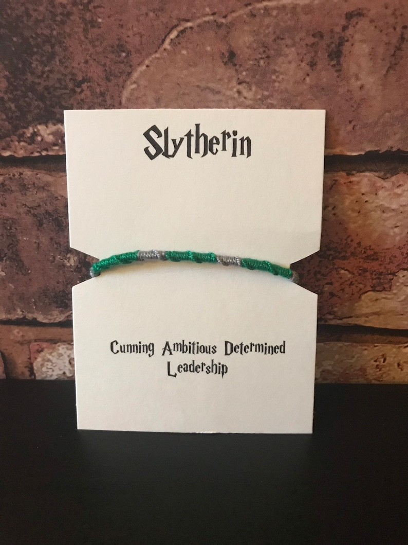 Harry Potter inspired friendship bracelets
