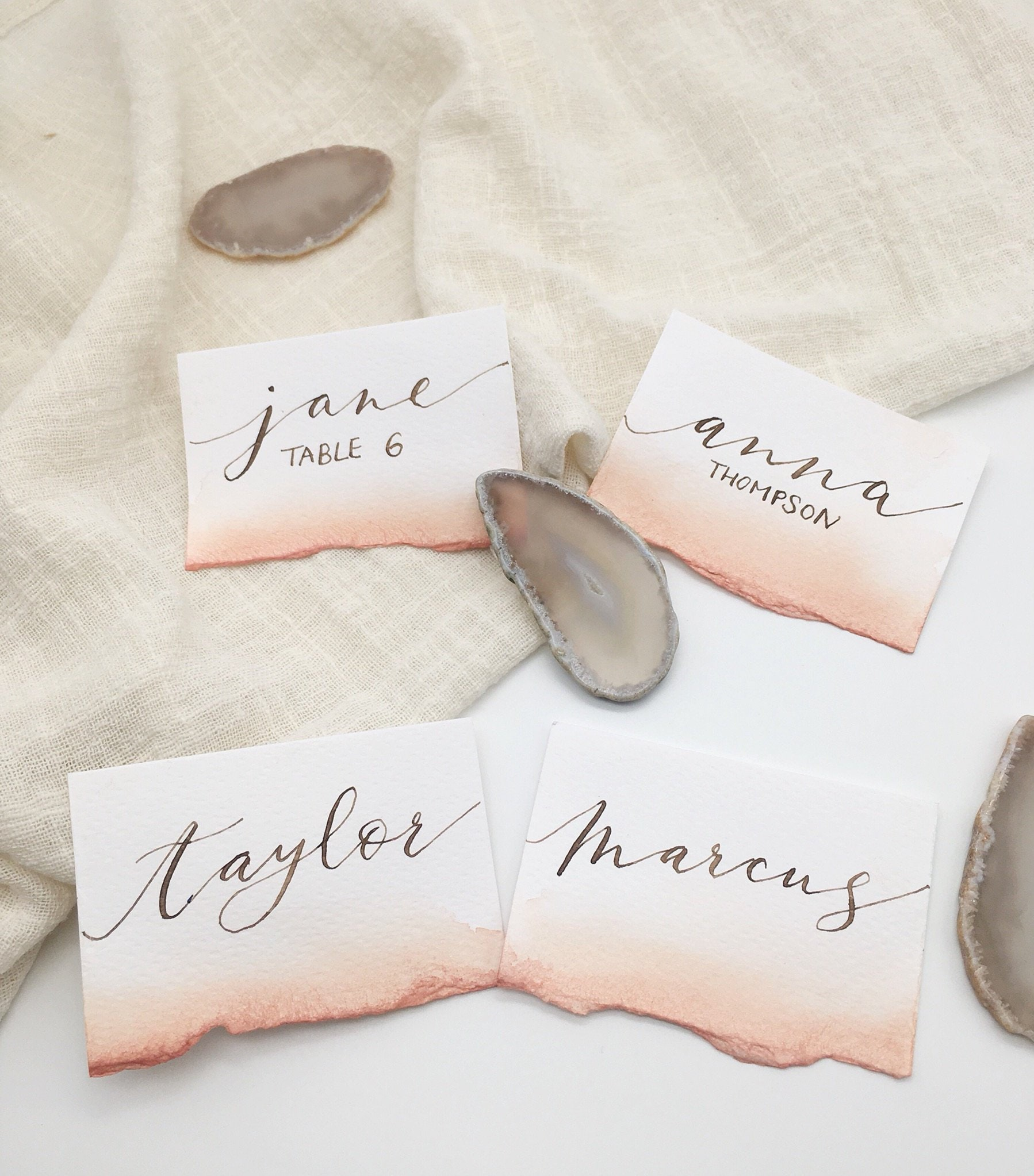 Details about  /Coral Watercolour Lights Toiletries Comfort Basket Personalised Wedding Sign