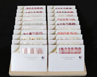 Nail Strip Set Wooden Display Stands - FREE SHIPPING