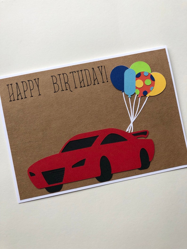 Race Car Happy Birthday Card