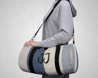 0620b0cd02 Custom Name Color Block Duffle Bag  Stylish Personalized Gym Bag