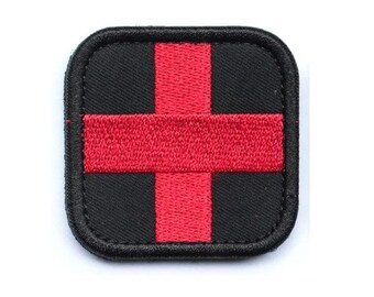 Rock & Pop New 3d Pvc Rubber Medic Paramedic Red Cross Flag Of Switzerland Swiss Cross Patch Backpack Tactical Army Morale Badge Patches