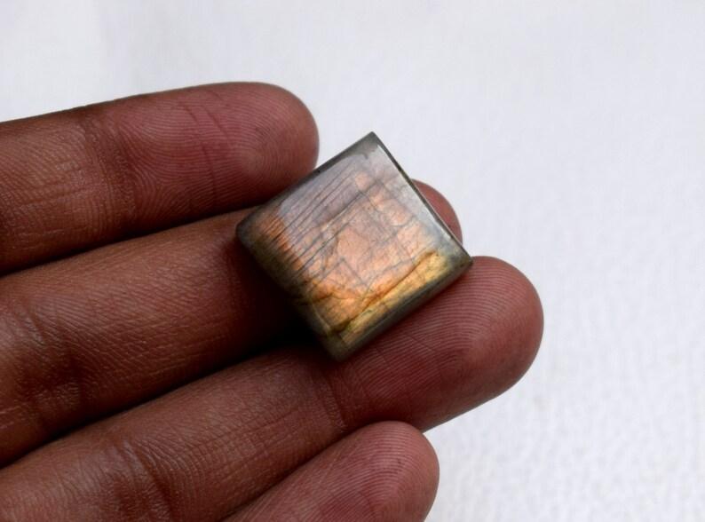 Labradorite Cabochon Square Shape Loose Gemstone Pendant Size Natural Labradorite Gemstone For Making Jewelry 29 Ct 20 MM