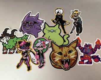"""Your choice of five 3"""" Die-cut stickers"""