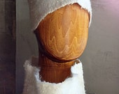 White felted winter female hat quot Cossack quot . Hand author 39 s work.