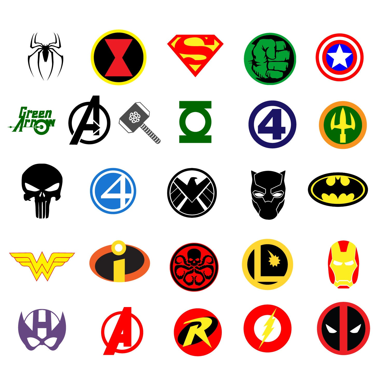 Superheroes Logos Clipart Marvel vector Avengers Superhero ...