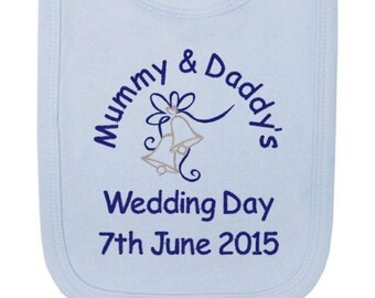 Daddy/'s Little Princess Embroidered Baby Pull-Over Bib Gift Personalised Girl