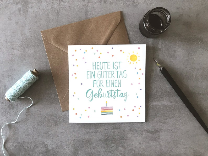 Greeting card Today is a beautiful day  BIRTHDAY image 0