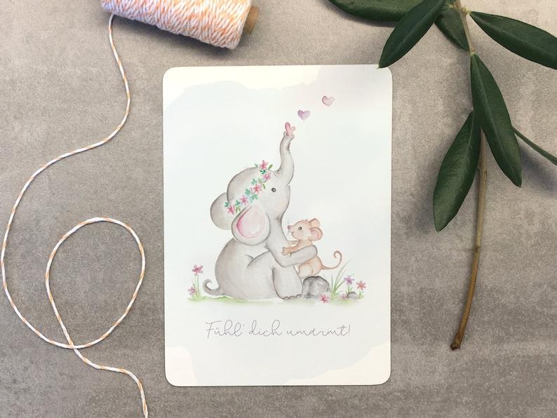 Greeting Card Set Feel Hugged/3 Cards image 0