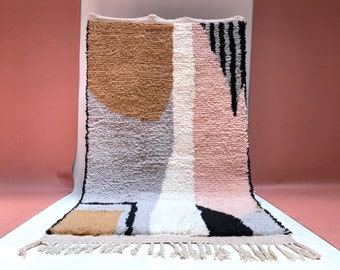 Custom Moroccan Rug, Authentic Moroccan rug, Berber carpet, Genuine Wool rug, Handmade rug, Area rug, Tapis berbere, Beni Ourain