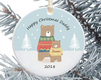 personalised christmas tree decoration for dad personalised holiday ornament gift from children