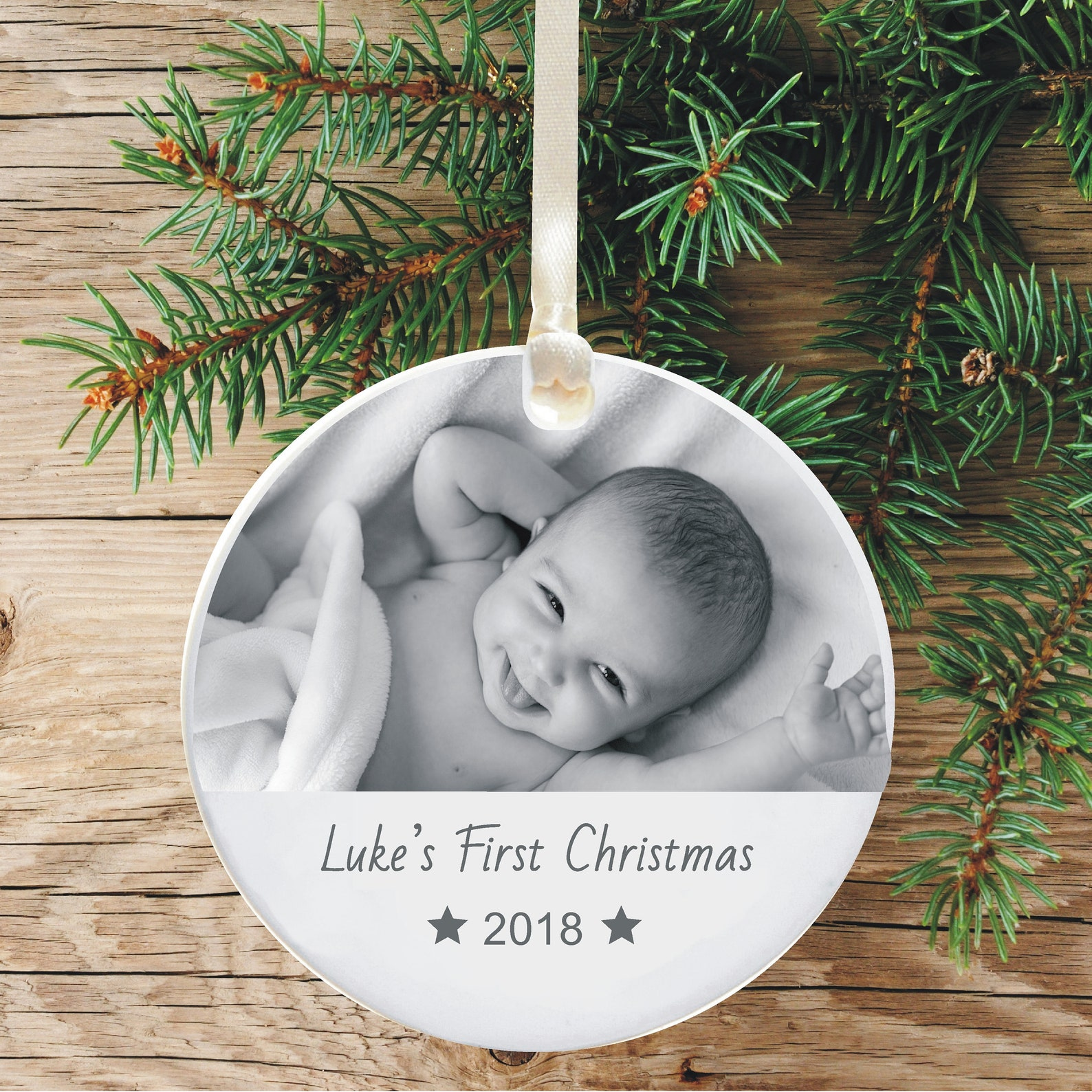 Baby's First Christmas Photo Tree Decoration