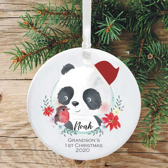 H/&H XMAS PERSONALISED SPINNING TREE DECORATION Special Grandson