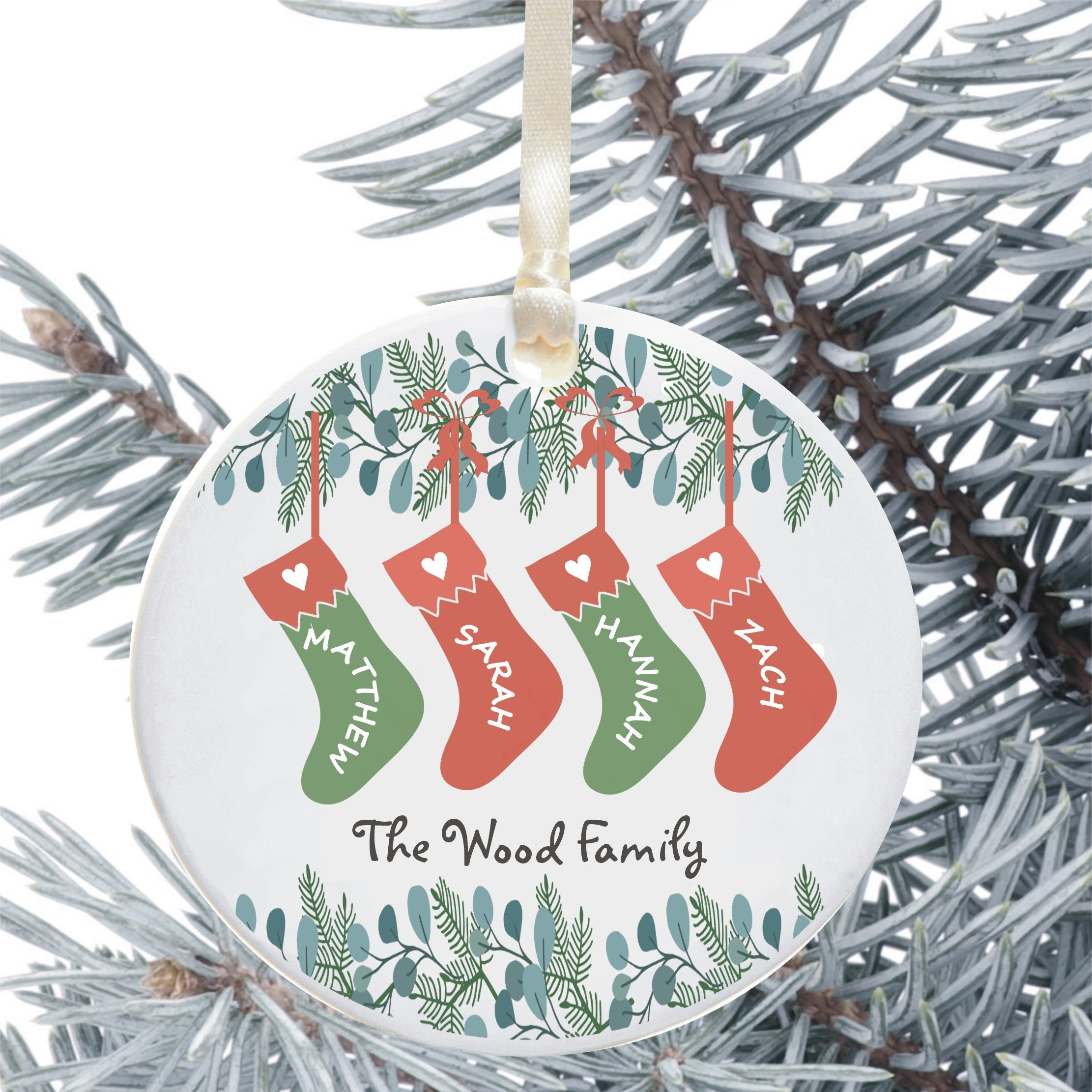 Keepsake Christmas Ornament Year Dated, Filled With Fun! Stocking 2021 Personalised Family Stocking Christmas Tree Decoration Etsy